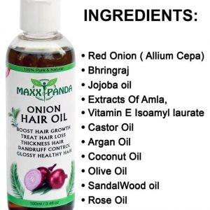 Maxx Panda Onion Hair Oil 100ML- Hair Regrowth, Hair Fall, Stop Dandruff Treatment