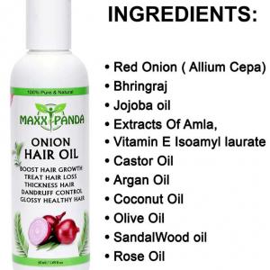 Maxx Panda Onion Hair Oil For Hair Regrowth, Fall, Stop Dandruff Treatment 50 ML
